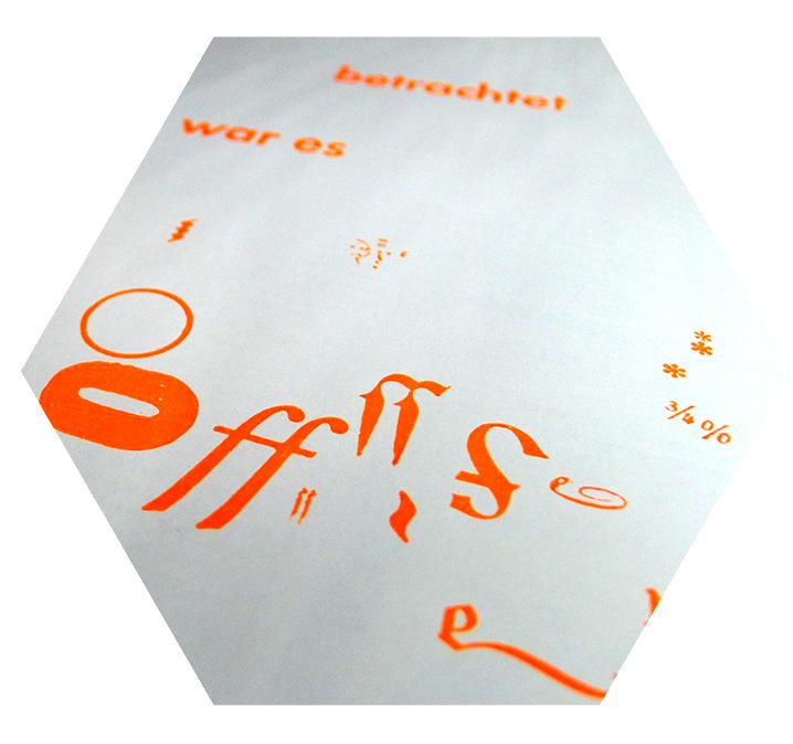 Typografisches Letterpress Plakat für Augenschmaus-Ausstellung
