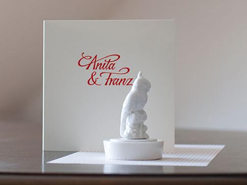 Letterpress Hochzeitspapeterie für Anita & Franz
